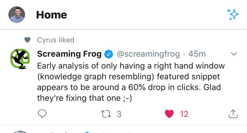 screaming-frog-drop-clicks-google-featured-snippet-update